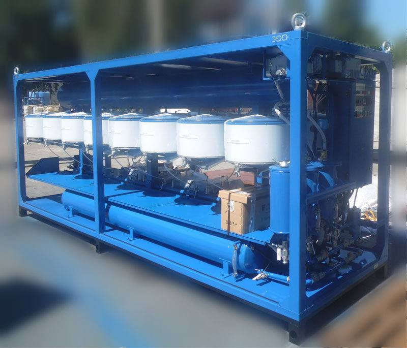 Fuel, oil cleaning system UVR-450/16