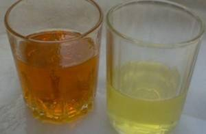 Transformer oil before and after regeneration