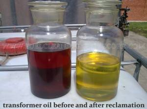 On-site regeneration of transformer oil